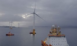 First turbine hits Hywind home