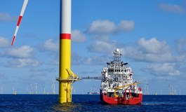 Vroon walk-to-work vessel VOS Stone at Eon's 385MW Arkona project in the Baltic Sea