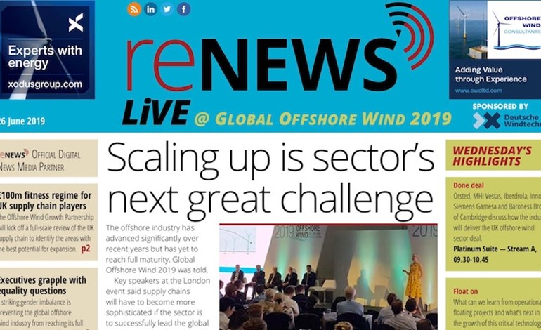 Global Offshore Wind 2019 Digital Daily available - reNews